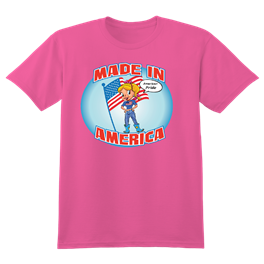 MADE IN AMERICA CARTOON SHIRT WITH HONEY DEE
